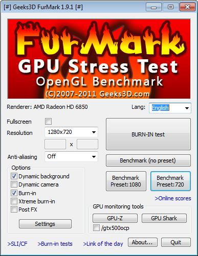 Скачать Furmark Portable Rus
